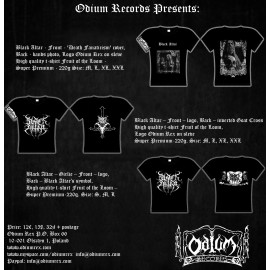 Black Altar - 2 sides T-shirt, Logo