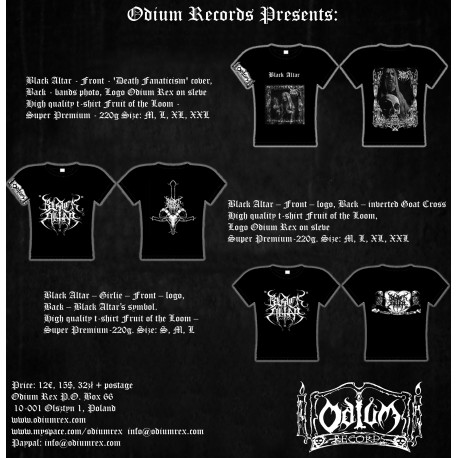Black Altar - T-shirt, Front- 'Death Fanaticism'