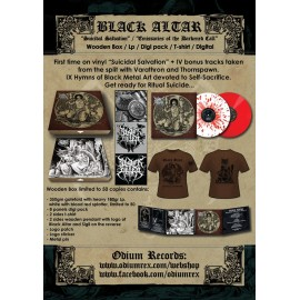 BLACK ALTAR - Suicidal Salvation / Emissaries of the Darkened Call digi pack + T-shirt Bundle