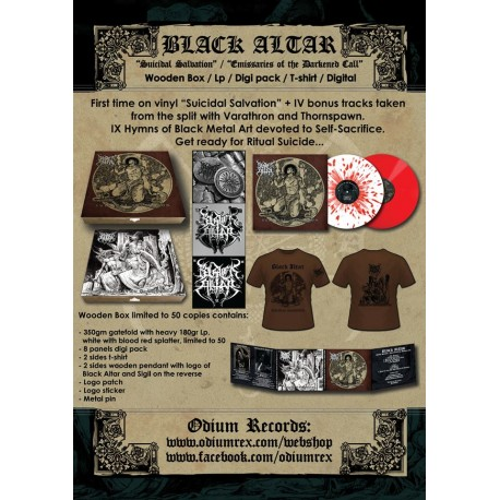 BLACK ALTAR - Suicidal Salvation / Emissaries of the Darkened Call digi pack + T-shirt BundlePREORDER