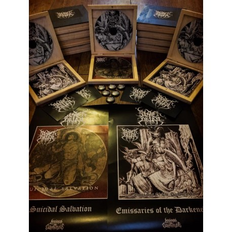 BLACK ALTAR - Suicidal Salvation / Emissaries of the Darkened Call CD Wooden Box