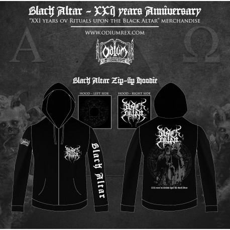 "BLACK ALTAR - ""XXI Anniversary"" ZIPPER HOOD Pre Order"