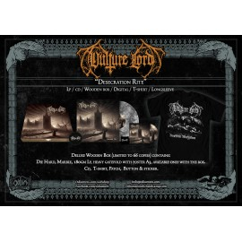 "VULTURE LORD - ""Desecration Rite"" Wooden Box Pre order"
